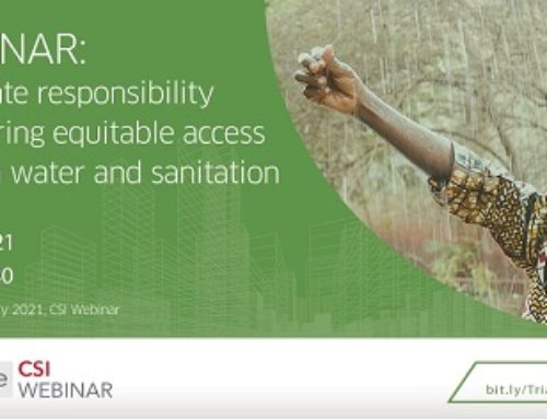 Trialogue webinar: Corporate responsibility in ensuring equitable access to clean water and sanitation